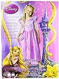 Disney - Disfraz clásico de Rapunzel y trenza de pelo, talla S, color rosa