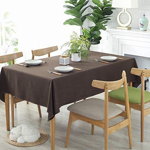 Llcf Tischdecke Einfarbig Einfache Baumwolle UndLeinenKonferenztischdecke Hotel Western RestaurantKaffeehausDekoration WaschbarTischdecke 140 * 200 cm