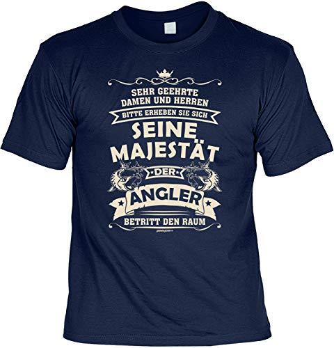 Angler T-Shirt lustiger Angel Zubehör für den Hobby Angler - der Angler - Papa Geschenk Geburtstagsgeschenk Geschenkidee Weihnachten Freizeit Gr: 3XL