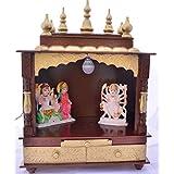 Wooden Home Temple/Wooden Pooja Mandap/Pooja Temple/Pooja Mandir with Bulb