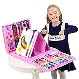 SMILINGGIRL Set De Cepillos para Niños Caja De Regalo De Pintura De Arte - Tablero De Dibujo De Doble Cara,Pink