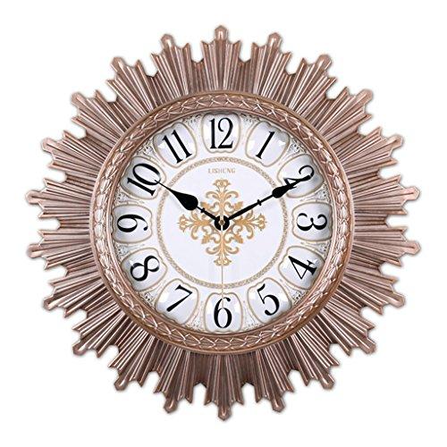 Sunjun Große Stille Wanduhr Vintage Style Uhren Non-Ticking für Wohnzimmer Schlafzimmer Küche Home Deco -