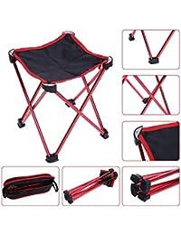 FWQPRA Portable Folding Beach Chair Seats Ultra Light Folding Camping Fishing Chair Outdoor Fish Chair
