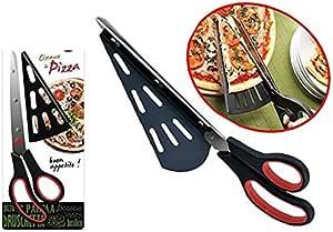 takestop® Forbice Taglia Pizza con Paletta Removibile Art_28957 Multifunzione Ristorante con Lama in Acciaio Colore Casuale