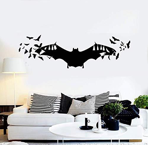 Decal Fledermäuse Kunst Halloween Horror inspiriert Dekoration Aufkleber Home Wohnzimmer Fenster Aufkleber 189x57cm ()