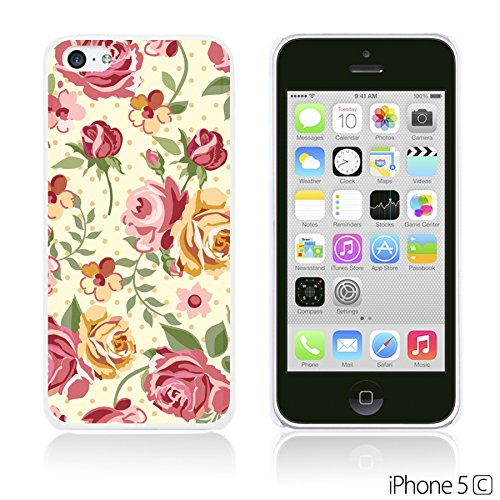 OBiDi - Flower Pattern Hardback Case / Housse pour Apple iPhone 5C - Watercolor Flower Print Pink Yellow Roses