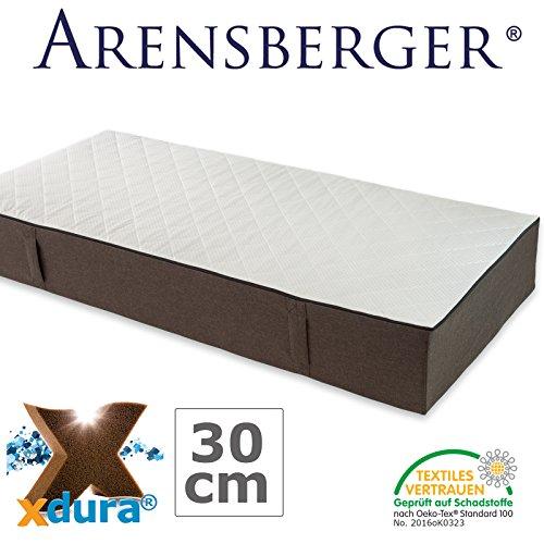 Arensberger LENA – die perfekte Matratze mit xdura® Universalschaum, mehrfach ausgezeichnet, extra Höhe 30cm, Raumgewicht 50 kg/m³, 90 cm x 200 cm, 140 cm x