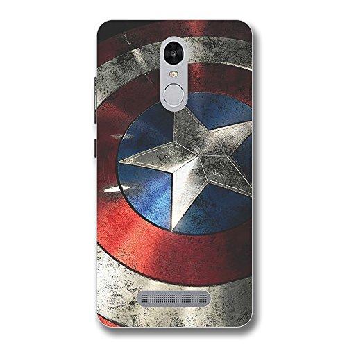 Overshadow OSI-PRN-REDMINOTE3-METALIC_CAPT_AMER Metalic Captain America Case Cover For Xiaomi Redmi Note 3