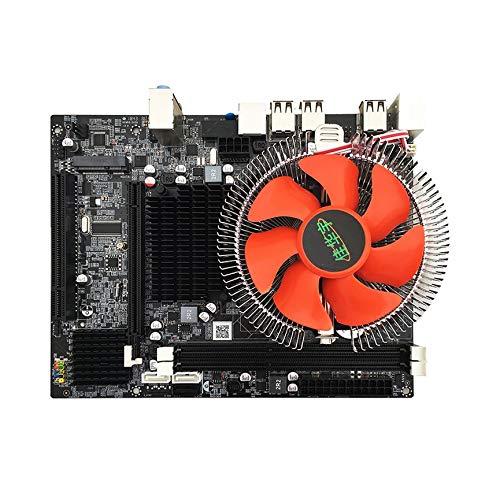 Placa base, interfaz IntelX58 LGA1366 Gigabit RJ45 SATA2.0 CPU de 6 núcleos 8G de memoria con ventilador Mute Mainboard DDR3 RAM, para los amantes de la computadora de escritorio DIY