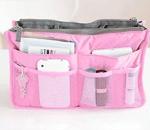 Liroyal Pink Handtasche Tasche in Tasche Organizer Organizer Organizer Ordnungsmappe Reise Kosmetik Tasche Make-up Tasche
