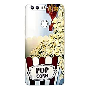 CrazyInk Premium 3D Back Cover for Honor 8 - Pop Corn