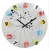 Großer Kreis-Magnetische Digital-Bewegliche Spaß-Wanduhr-Mode-Reihen-Stern-Platz-Bewegliche Uhr-Modische Hauptcharakter-Auto-Dekoration Beleuchtet Durchmesser 50CM