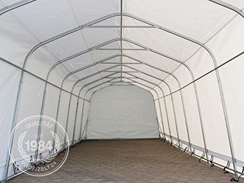 Garagenzelt Carport 3,3 x 4,8 m in grau Weidezelt Unterstand Lagerzelt mit 550 g/m² PVC Plane und stabiler Stahlrohrkonstruktion -