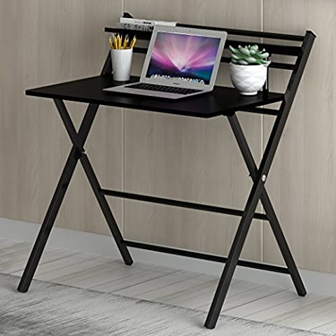 Cherry Tree Furniture New Design Folding Computer Desk Home Office Laptop Desktop Table in Black Colour