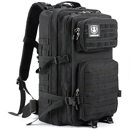 Gonex 35L taktischer Rucksack, Barbarians Molle Tasche Militärischer Assault Rucksack für Outdoor Wandern Camping (schwarz)