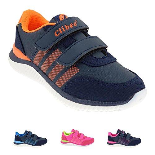 GALLUX - Kinder Sneaker coole Schuhe Mädchen Jungen Blau/Orange