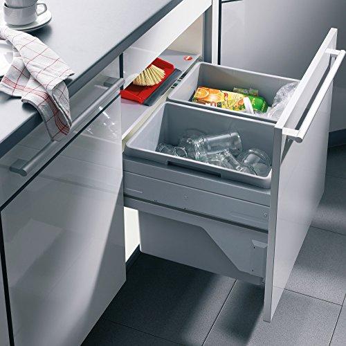 Hailo Euro Cargo S Küchen-Abfalleimer, Kunststoff, Grau, One Size -
