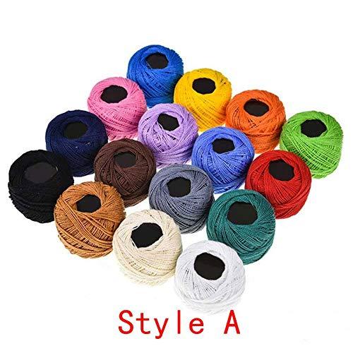 Hilo Crochet algodón 16 Colores Tejer artesanías