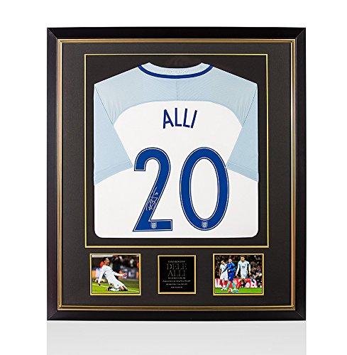 Dele-Alli-Signed-Autograph-England-Shirt-Number-20-Premium-Framed