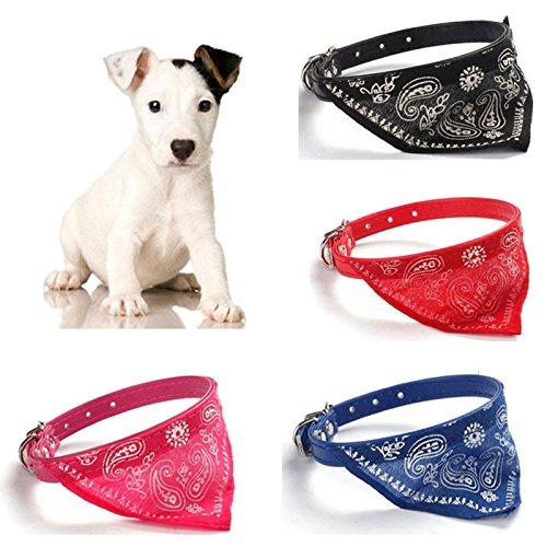 Hundehalsband mit Halstuch fur kleine Hunde, Welpem und Katzen in blau