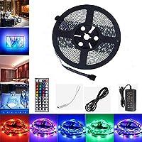 Tiras LED, GHONLZIN Tira LED de Luces RGB 5M 150 LEDs 5050 SMD Impermeable Tiras de LED Kit Completo