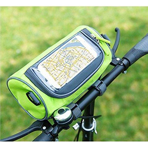 fucnen Front Tube Lenkertasche Fahrrad Halterung für Karte Wasserdichtes Bike Tasche Fahrrad Cycling vorne Korb Gepäckträgertasche mit abnehmbarer Schultergurt Grün