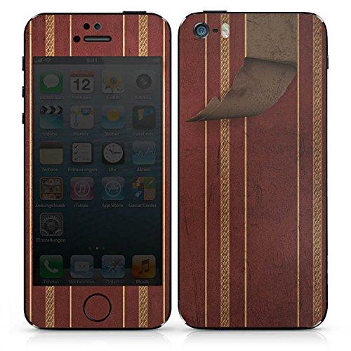 Apple iPhone SE Case Skin Sticker aus Vinyl-Folie Aufkleber Wand Retro Muster DesignSkins® glänzend