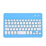 Ultra Slim clavier sans fil Bluetooth pour iPhone, iPad Pro, iPad Air, iPad Mini, iPad 2/3/4, Android, Windows, PC, tablettes et smartphones Bluetooth Keyboard Blue