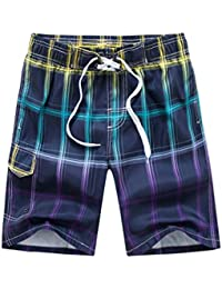Search For Flights Mens Maine Blue Checked Swimming Trunks Size M Clothing, Shoes & Accessories Swimwear