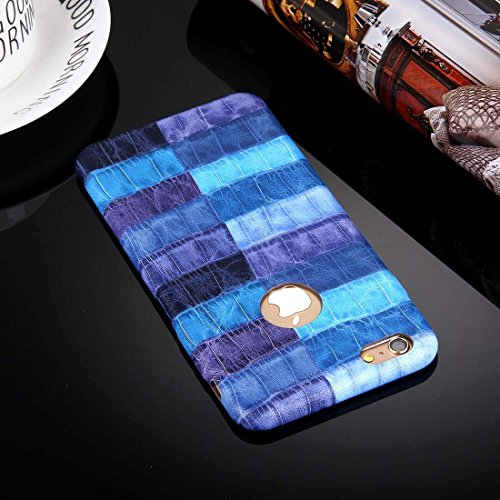 Pour iPhone 6 Plus / 6s Plus, Coque de cuir en PU PU YAN ( Color : Yellow ) Blue