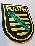ATG Ärmelabzeichen Polizei Sachsen 3 D Rubber Patch (Farbig)