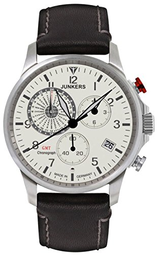 Junkers Men's Quartz Watch with Chronograph Quartz Leather 68925