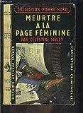 Telecharger Livres Meurtre a la page feminine (PDF,EPUB,MOBI) gratuits en Francaise
