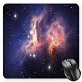 BGLKCS Fitness Mousepad, Motivational Quote Don't Stop Encouraging Keep Moving Brush Strokes, Standard Size Rectangle Non-Slip Rubber Mousepad, Charcoal Grey Black White