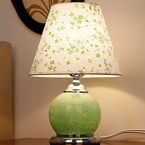Glas Tischlampe Doppelte Lichtquelle Dekorative Lichter Wohnzimmer Kleine Nacht Licht Schlafzimmer Nachttisch Lampe LED Glas Schreibtisch Lampe ( Farbe : Grün )