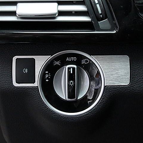 Car Automobile Center Head Light Switch Button Cover Trim For Mercedes Benz A W176 B W246 C W204 E W212 GLA GLK X204 GL