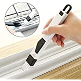 Rachees Plastic Corners and Edges Dust Cleaning Brush for Window Frame Keyboard with Mini Dustpan (Multicolour)
