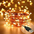 DesiDiya® Copper Fairy String Lights with USB Cable for Home Decoration 5 Meters (Pack of 1)