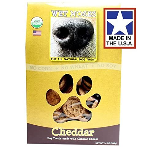 Cheddar Treats - 14oz box by Wet Noses Natural Dog Treat Company (English Manual)