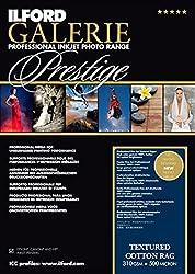 Ilford Galerie Prestige Textured Cotton Rag 310 Gsm A4-210 Mm X 297 Mm 25 Blatt