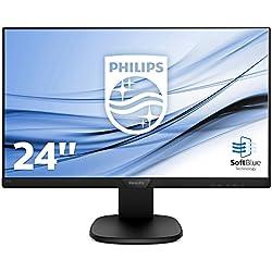 """Philips Moniteur LCD avec Technologie SoftBlue 243S7EHMB/00 - Écrans Plats de PC (60,5 cm (23.8""""), 1920 x 1080 Pixels, Full HD, LCD, 5 ms, Noir)"""