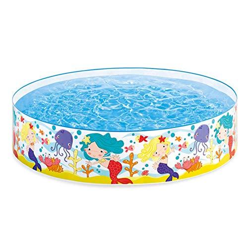 advancethy Kinderpool Aufstellpool Planschbecken Schwimmbecken PVC Hartplastik Tragbaren Pool Familienpool Aquarium Ø18338cm