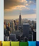 "Bilderdepot24 selbstklebende Fototapete ""New York City II"" 130 x 200 cm - direkt vom Hersteller, Vinyl"