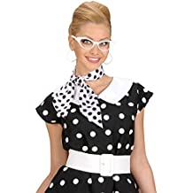 Foulard rétro satin fichu noir-blanc à pois foulard en satin polka dots  châle points f4d4319be94