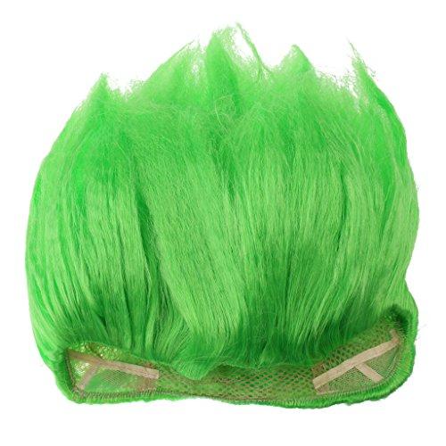 Sharplace Erwachsene Kinder Perücke Elf Cosplay Haarperücke Partei Kostüm Zubehör - Grün