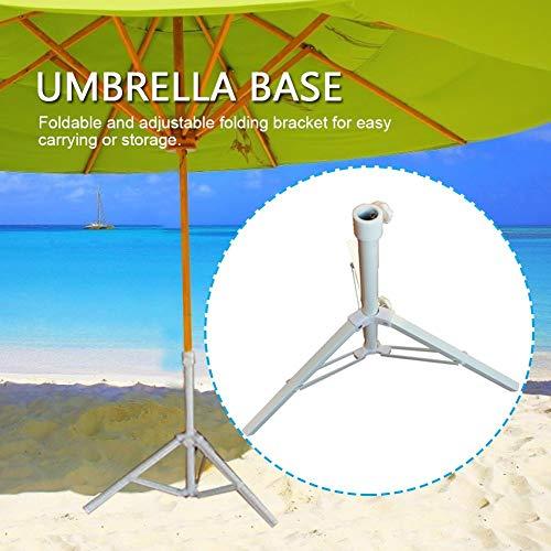 Eventualx Schirmständer Langlebige Rostfreier Stahl Sonnenschirm Stativ Faltbar Multifunktional Rostschutz Kein Ausbleichen Schirmhalter Für Im Freien