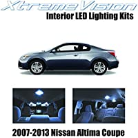 XtremeVision Nissan Altima Coupe 2 Door 2007-2013 (15 Pieces) Cool White Premium Interior LED Kit Package +Installation Tool by