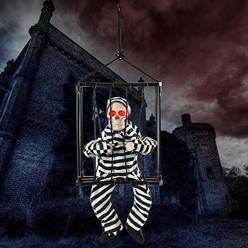 miuline Halloween Deko Geist Gefangener im Käfig mit -