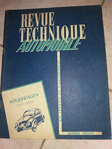 REVUE TECHNIQUE AUTOMOBILE FEVRIER 1957 VOLKSWAGEN TOUS TYPES
