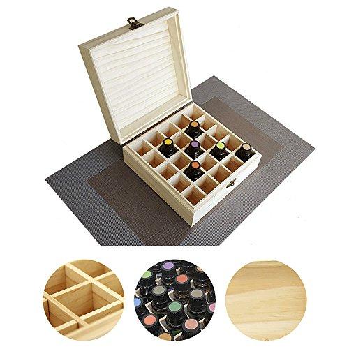 Marke Neu, der Holzbox für ätherisches Öl Flaschen (für 25Flaschen & Größe 5–15ml)